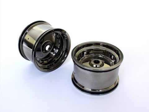 Kyosho Scorpion RR Wheels Black Chrome
