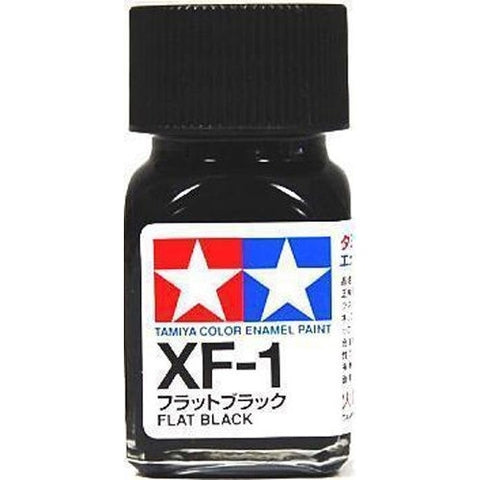 Tamiya XF-1 Enamel 10ml Flat Black