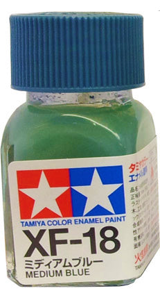 Tamiya XF-18 Enamel 10ml Flat Medium Blu