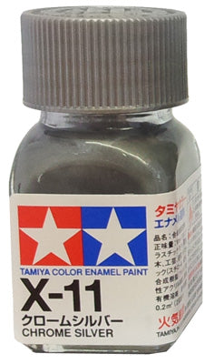 Tamiya X-11 Enamel 10ml Chrome Silver