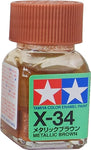 Tamiya X-34 Enamel 10ml Metallic Brown