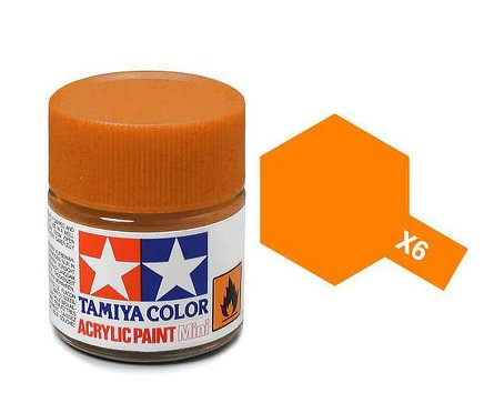 Tamiya X6 Acrylic 10ml Orange