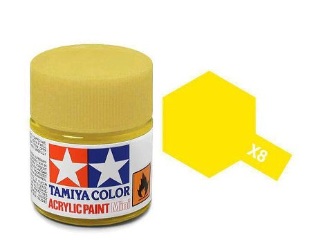 Tamiya X8 Acrylic 10ml Lemon Yellow