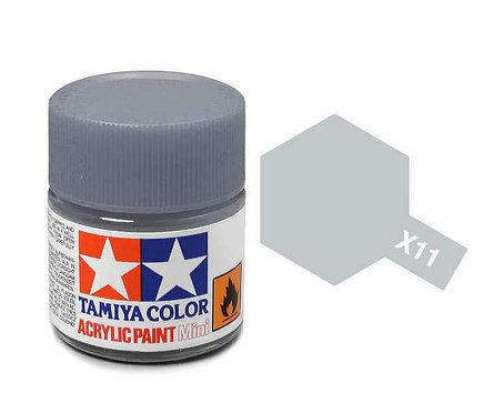 Tamiya X11 Acrylic 10ml Chrome Silver