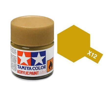 Tamiya X12 Acrylic 10ml Gold Leaf