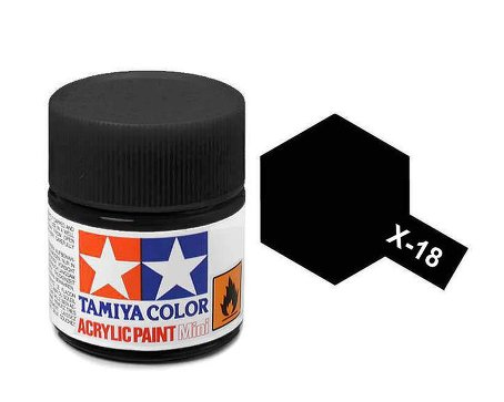 Tamiya X18 Acrylic 10ml Semi Gloss Black