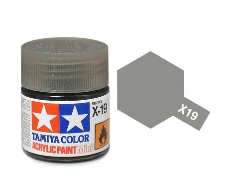Tamiya X19 Acrylic 10ml Smoke