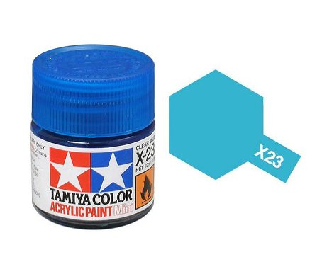 Tamiya X23 Acrylic 10ml Clear Blue