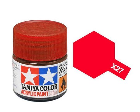 Tamiya X27 Acrylic 10ml Clear Red