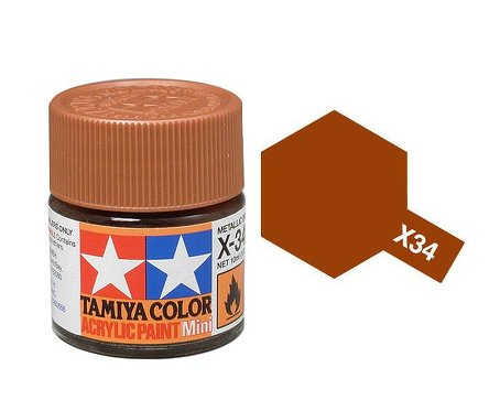 Tamiya X34 Acrylic 10ml Metallic Brown
