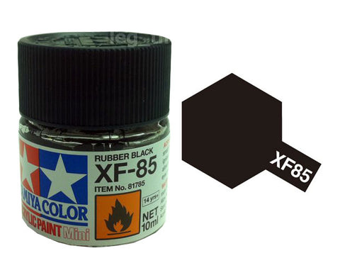 Tamiya XF85 Acrylic 10ml Rubber Black