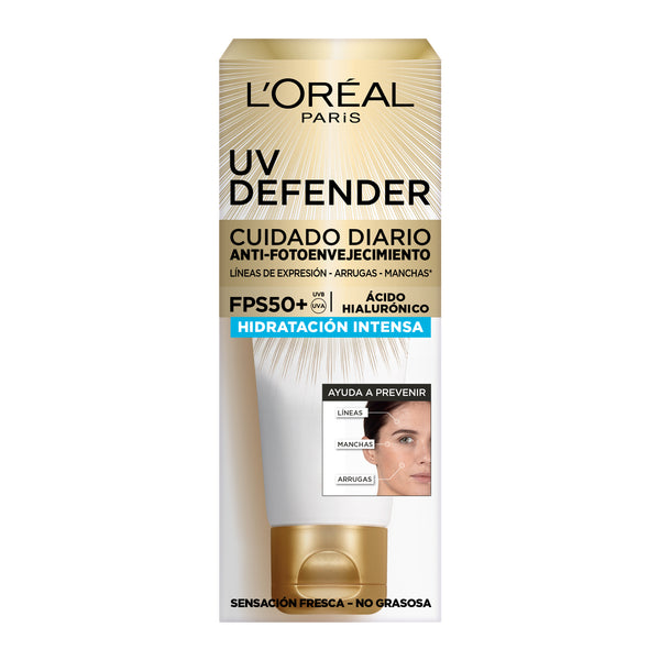 L'oreal Paris UV Defender Hydratación Intensa FPS 50+