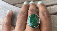 Load image into Gallery viewer, Malachite Stacker Ring #5 (sz 10)