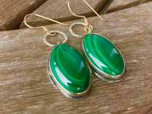 Load image into Gallery viewer, Malachite Drop Earrings