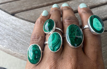 Load image into Gallery viewer, Malachite Stacker Ring #3 (sz 7.5)