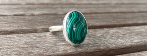 Malachite Stacker Ring #3 (sz 7.5)