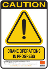Crane Working - Cone Sign