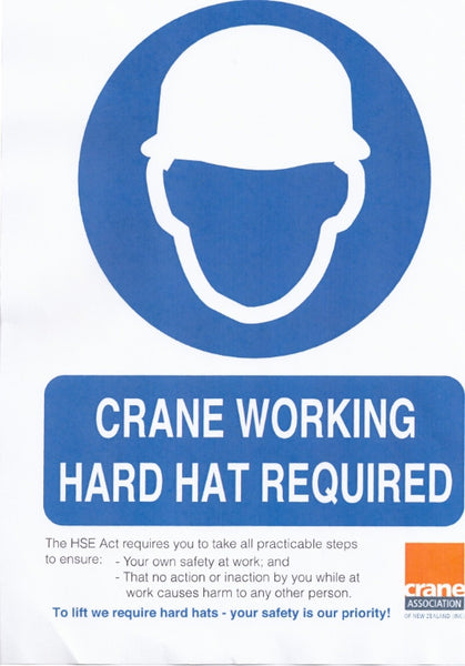 A2 Hard Hat Area Poster