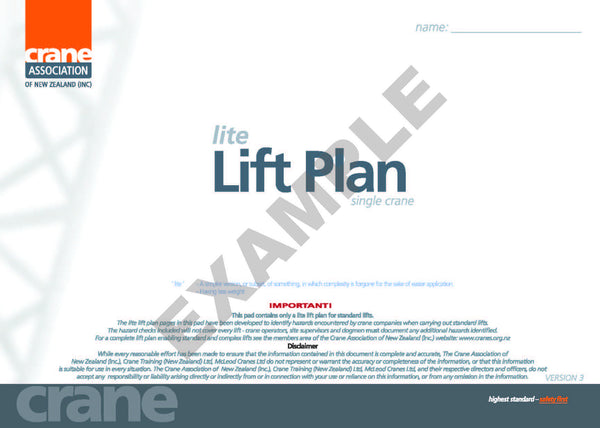 Lift Plan (Lite Version)