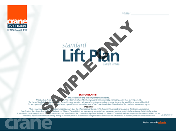 Lift Plan (Standard Version)
