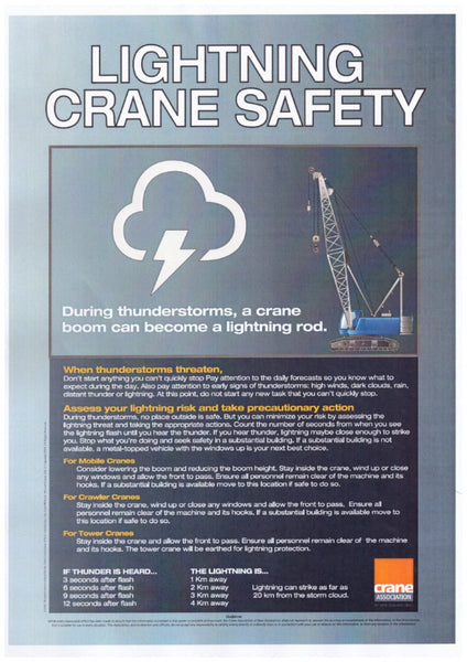 A2 Lightning Crane Safety Poster