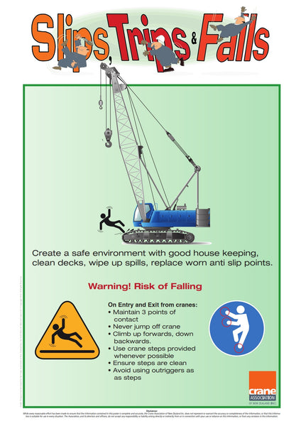 A2 Crawler Slips-Trips-Falls Poster