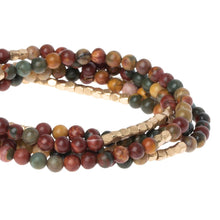 Load image into Gallery viewer, Scout STONE WRAP MAJESTIC JASPER - STONE OF SERENITY