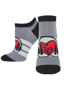 Socksmith Women SHORTIE HEART BEAT SOCK