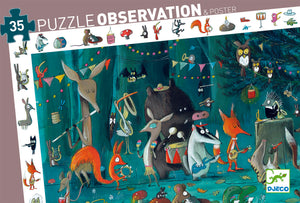 Djeco LOOK & FIND PUZZLE ORCHESTRA 35 PIECES