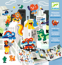 Load image into Gallery viewer, Djeco STICKER STORY - MONSTER INVASION - 4-8 YRS