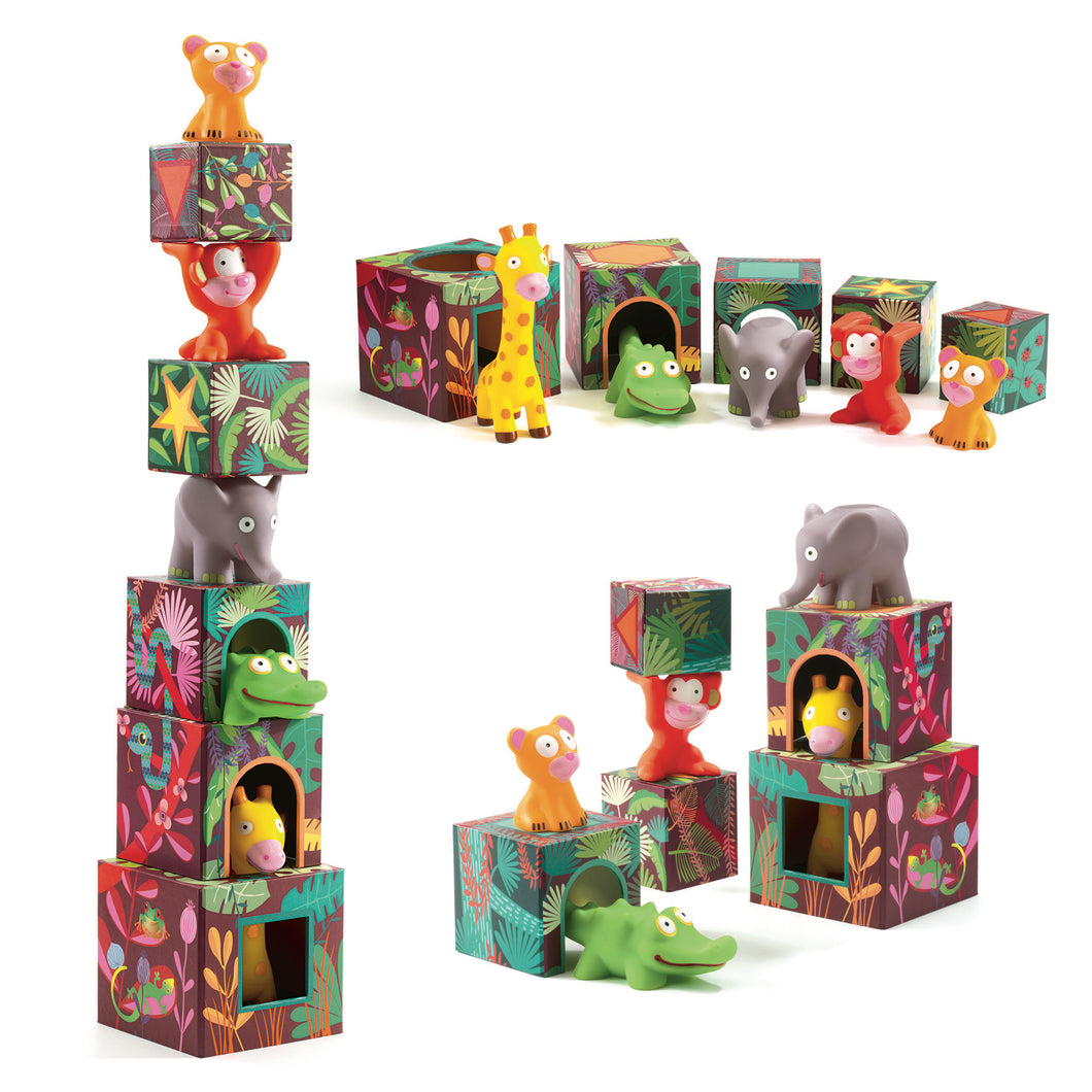 Djeco STACK JUNGLE TOWER 18+ Months