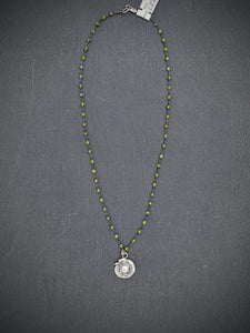 Nancy Martin ROUND CZ PERIDOT NECKLACE
