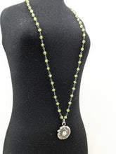 Load image into Gallery viewer, Nancy Martin ROUND CZ PERIDOT NECKLACE