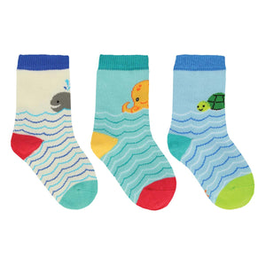 Socksmith Kids 3 PACK SEA YOU SOCKS 12-24 MONTHS
