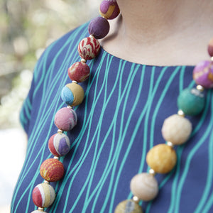 World Finds KANTHA GARLAND NECKLACE