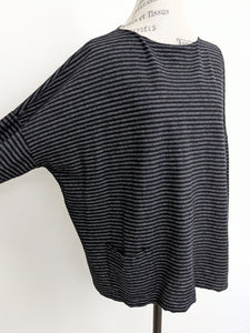 Cut Loose POCKET PULLOVER STRIPE TOP