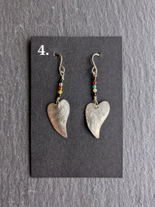 Nancy Martin HEART EARRING SERIES B