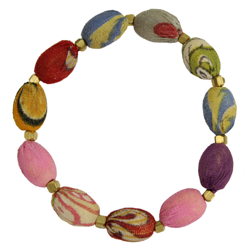 World Finds KANTHA OVAL BRACELET