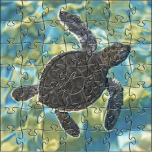 Load image into Gallery viewer, Zen Art TEASER SEA TURTLE PUZZLE 50 PIECES
