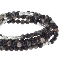 Load image into Gallery viewer, Scout STONE WRAP BLACK NETWORK AGATE - STONE OF INNER STABILITY