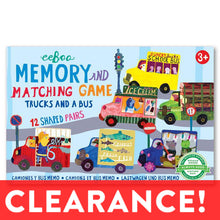 Load image into Gallery viewer, eeboo TRUCKS & A BUS MATCHING GAME - Originally $12