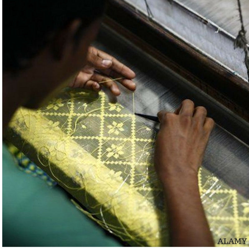 Jamdani saree weaving