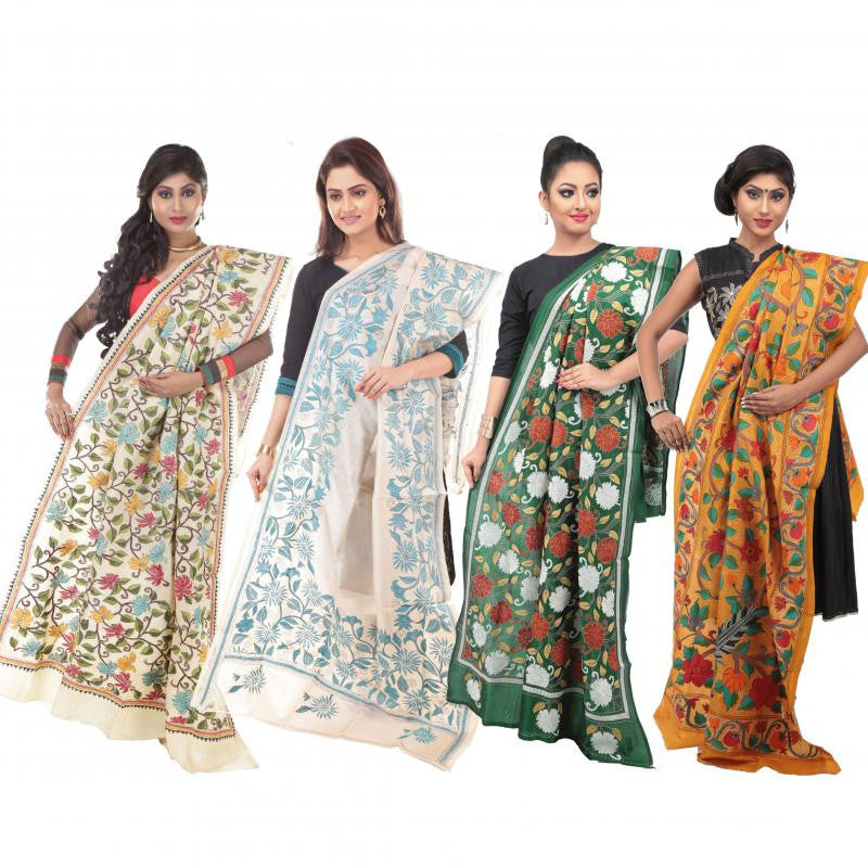 Kantha dupattas for a fashion statement