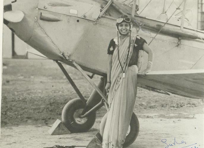How Sarla Thakral used a saree to make the cockpit a feminist space