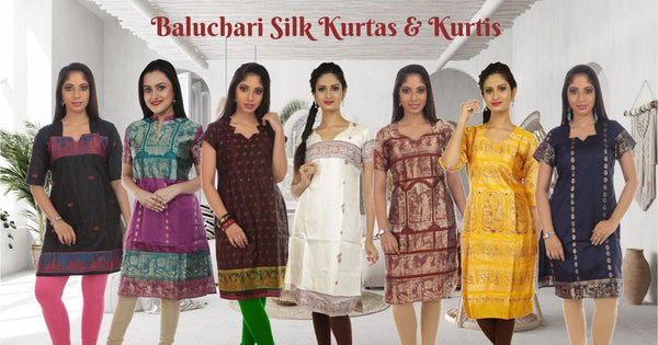 Baluchari silk kurtas and kurtis from Bengal