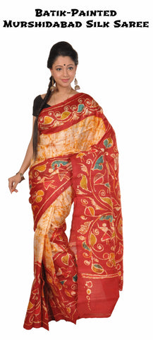 Murshidabad_silk_sari_Batik_work