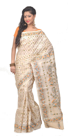 Kantha_work_on_silk_saree