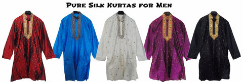 Pure silk Men's kurtas from Bengal