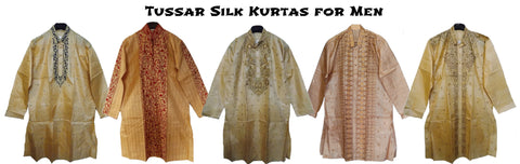 Tussar silk men's kurtas from Bengal