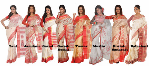 Red-n-white sarees